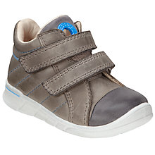 Buy ECCO Children's Suede Rip-Tape Shoes, Grey Online at johnlewis.com