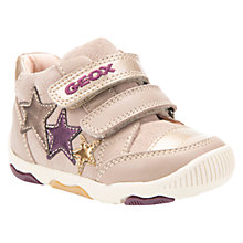 Buy Geox Children's B Balu Double Riptape Shoes, Beige Online at johnlewis.com