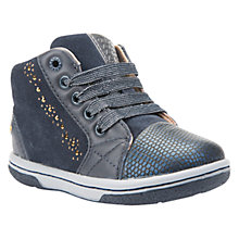 Buy Geox Children's B Flick Suede Lace Trainers, Navy Online at johnlewis.com