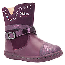 Buy Geox Children's B Flick Suede Boots, Purple Online at johnlewis.com