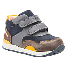 Buy Geox Children's B Rishon Double Riptape Shoes, Navy/Multi Online at johnlewis.com