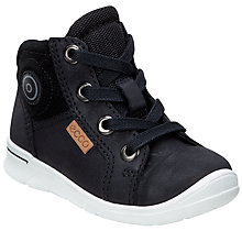 Buy ECCO Children's Fast Lace-Up Suede Trainers, Black Online at johnlewis.com