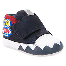 Buy Geox Children's Ian Riptape Booties, Navy/Red Online at johnlewis.com
