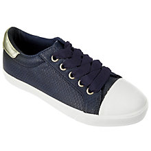 Buy John Lewis Children's Paige Crocodile Pattern Shoes, Navy Online at johnlewis.com