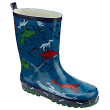 Buy John Lewis Children's Dino Wellington Boots, Blue Online at johnlewis.com