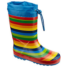 Buy John Lewis Children's Rainbow Topper Wellington Boots, Multi Online at johnlewis.com