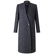 Buy Jigsaw Herringbone Column Coat, Grey Online at johnlewis.com