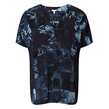 Buy Jigsaw Double Layer Top, Dark Blue Online at johnlewis.com