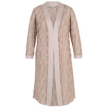Buy Chesca Floral Embroidered Lace Coat, Mink Online at johnlewis.com