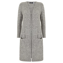 Buy Mint Velvet Fluffy Longline Cardigan, Grey Online at johnlewis.com