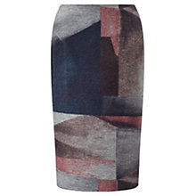 Buy Jigsaw Architect Shadow Pencil Skirt, Grey Melange Online at johnlewis.com