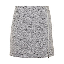 Buy Mint Velvet Textured Zip Skirt, White Online at johnlewis.com