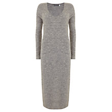 Buy Mint Velvet V Neck Midi Dress, Grey Online at johnlewis.com