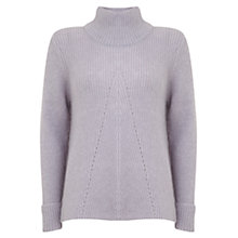 Buy Mint Velvet Pointelle Jumper, Purple Online at johnlewis.com