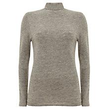 Buy Mint Velvet Jersey Polo Neck Jumper Online at johnlewis.com