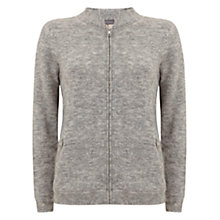 Buy Mint Velvet Fluffy Bomber Jacket, Grey Online at johnlewis.com