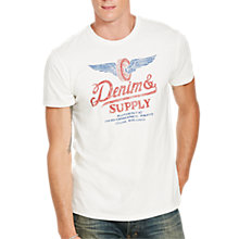 Buy Denim & Supply Ralph Lauren Cotton Jersey Graphic T-Shirt, Antique Cream Online at johnlewis.com