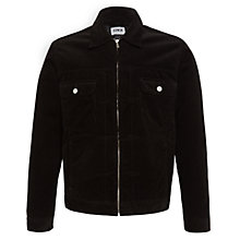 Buy Edwin Panhead Zip Flap Jacket, Black Online at johnlewis.com