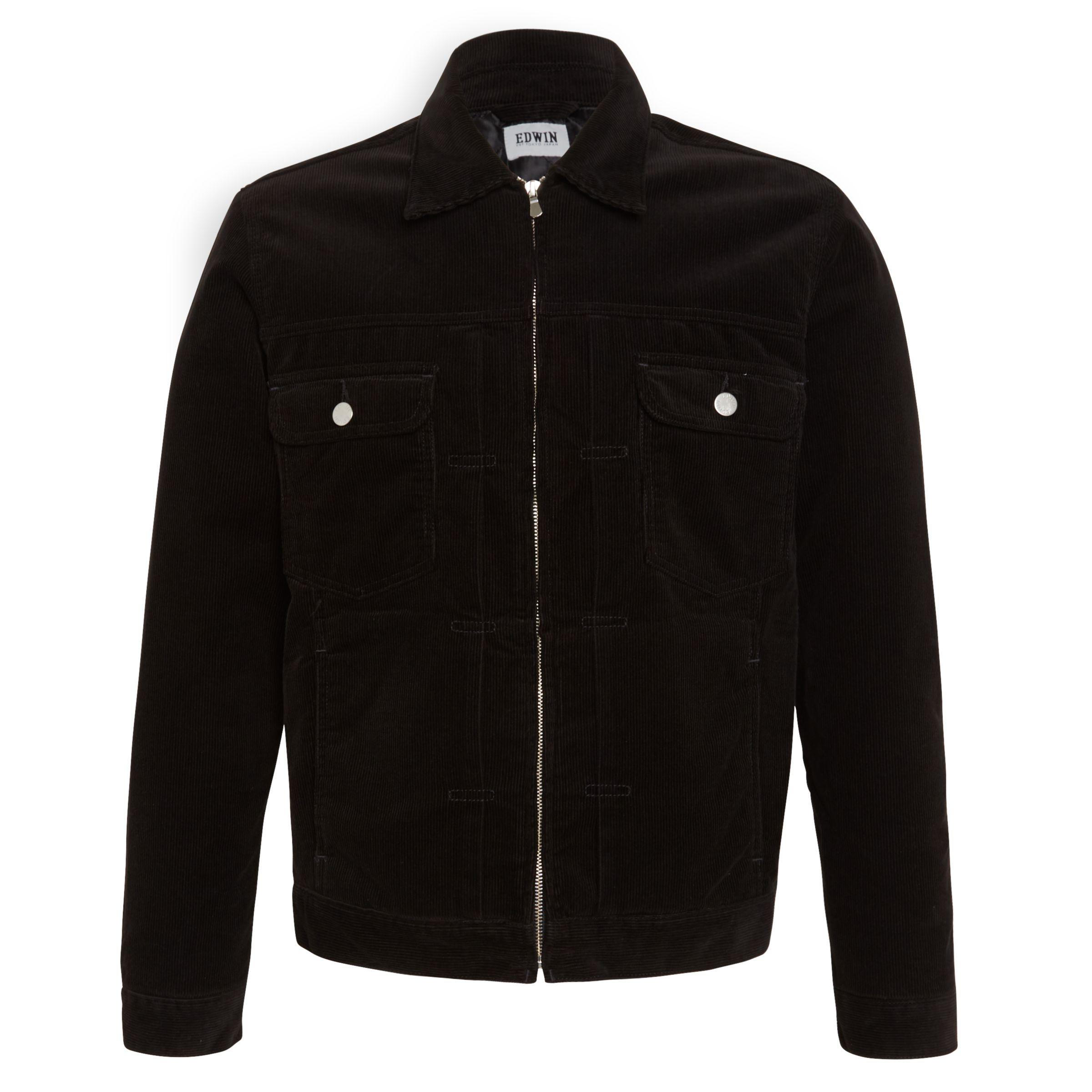 Edwin Edwin Panhead Zip Flap Jacket, Black