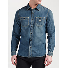 Buy Denim & Supply Ralph Lauren Work 2 Pocket Denim Shirt, Ranger Wash Ban Online at johnlewis.com