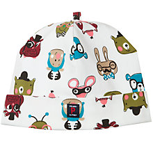 Buy Polarn O. Pyret Baby Animal Faces Beanie Hat, White Online at johnlewis.com