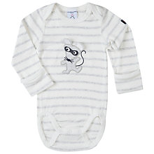 Buy Polarn O. Pyret Baby Stripe Bodysuit, White Online at johnlewis.com