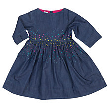 Buy Polarn O. Pyret Girls' Spotted Denim Dress, Blue Online at johnlewis.com