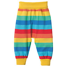 Buy Frugi Organic Baby Parsnip Rainbow Joggers, Multi Online at johnlewis.com