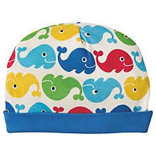 Buy Frugi Organic Baby Whale Hat, Multi Online at johnlewis.com