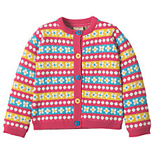 Buy Frugi Organic Baby Little May Daisy Print Cardigan, Multi Online at johnlewis.com