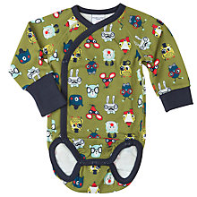 Buy Polarn O. Pyret Baby Animal Faces Bodysuit Online at johnlewis.com
