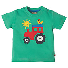 Buy Frugi Organic Baby Little Wheels Applique Top, Green Online at johnlewis.com
