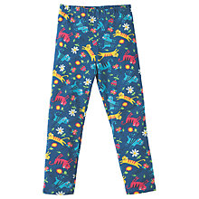 Buy Frugi Organic Girls' Libby Cat Leggings, Navy Online at johnlewis.com