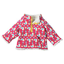 Buy Frugi Organic Reversible Duck Print Snuggle Fleece, Pink Online at johnlewis.com