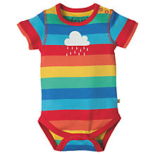 Buy Frugi Organic Baby Lowen Rainbow Bodysuit, Multi Online at johnlewis.com