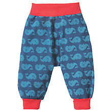 Buy Frugi Organic Baby Parsnip Whale Trousers, Blue Online at johnlewis.com