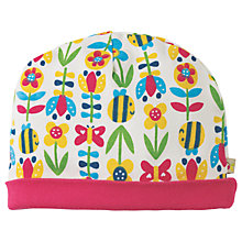 Buy Frugi Organic Baby Floral Bee Hat, Multi Online at johnlewis.com