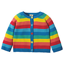 Buy Frugi Organic Baby Little Happy Day Striped Cardigan, Multi Online at johnlewis.com