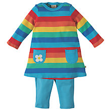 Buy Frugi Organic Baby Rainbow Tunic Top and Leggings Set, Multi Online at johnlewis.com