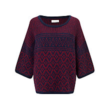 Buy Harris Wilson Tiger Boxy Fit Jumper, Marine/Groseille Online at johnlewis.com