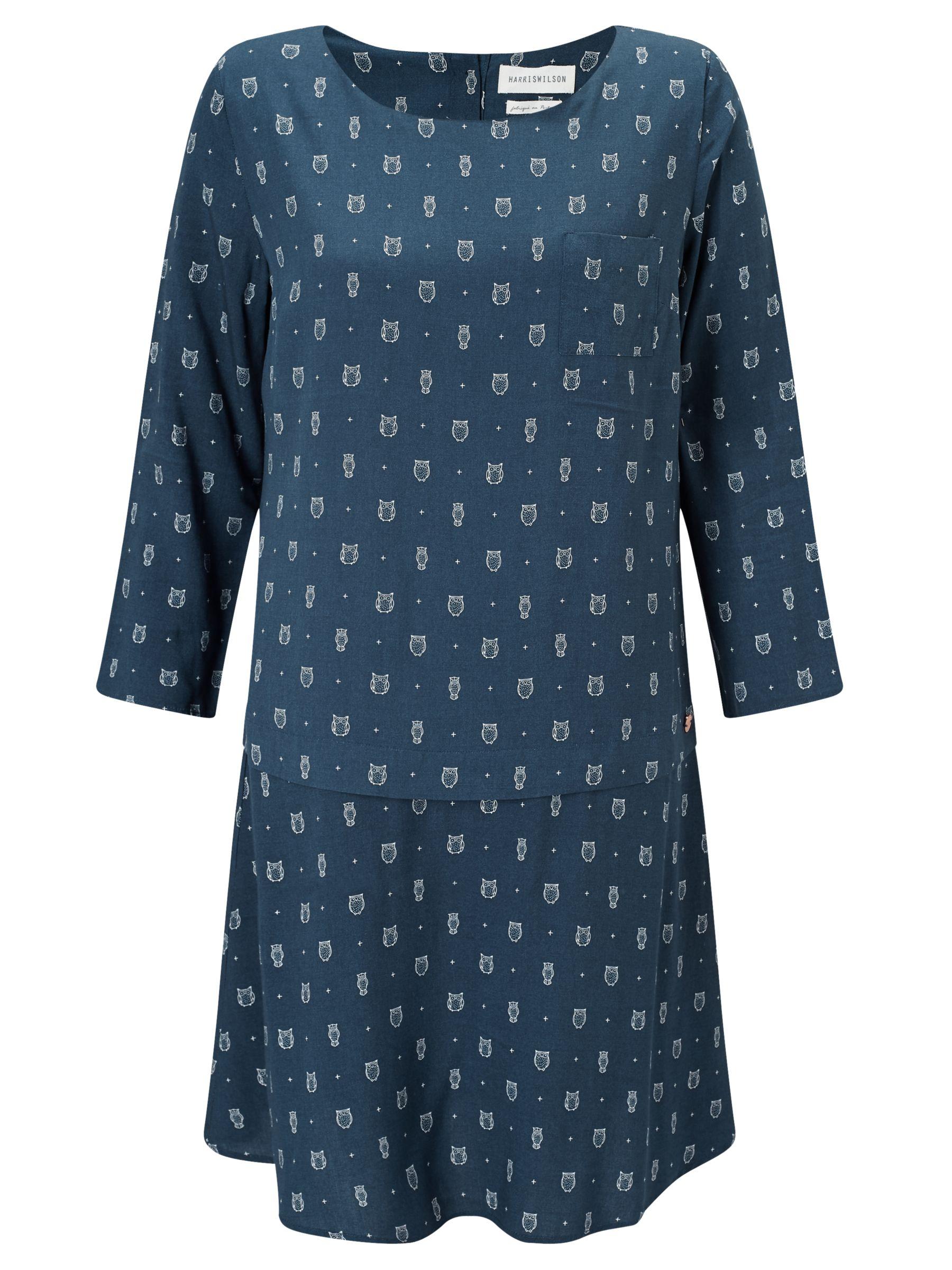 Harris wilson Harris Wilson Vestina Owl Print Dress, Petrole