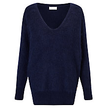 Buy Harris Wilson Theona V-Neck Jumper, Marine Online at johnlewis.com