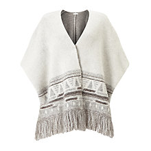 Buy Harris Wilson Terrel Poncho, Ecru Online at johnlewis.com