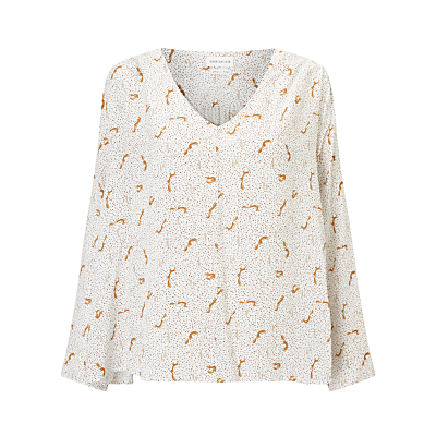 Harris Wilson Vicenta Fox Print Blouse, Ecru