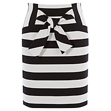 Buy Karen Millen Graphic Skirt, Black/White Online at johnlewis.com