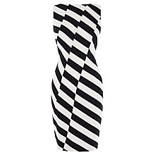 Buy Karen Millen Ponte Striped Roma Dress, Black & White Online at johnlewis.com
