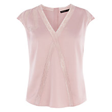 Buy Karen Millen Lace Bow Detail Top, Nude Online at johnlewis.com