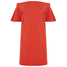 Buy Warehouse Off Shoulder Dress, Bright Red Online at johnlewis.com