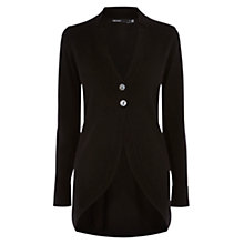 Buy Karen Millen Polo Knit Collection Cardigan, Black Online at johnlewis.com