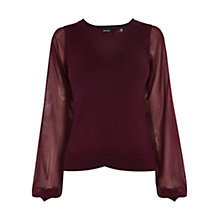 Buy Karen Millen Georgette Sleeve Jumper Online at johnlewis.com